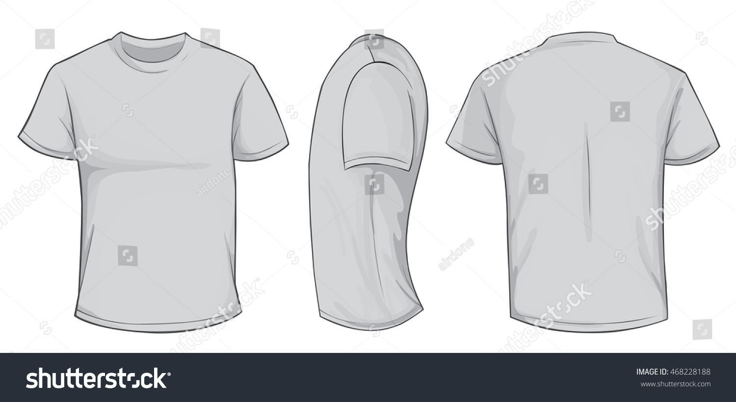 Similar Images To Vector Illustration Of Blank Grey Men T Shirt Template Front Side And Back Design Isolated On White