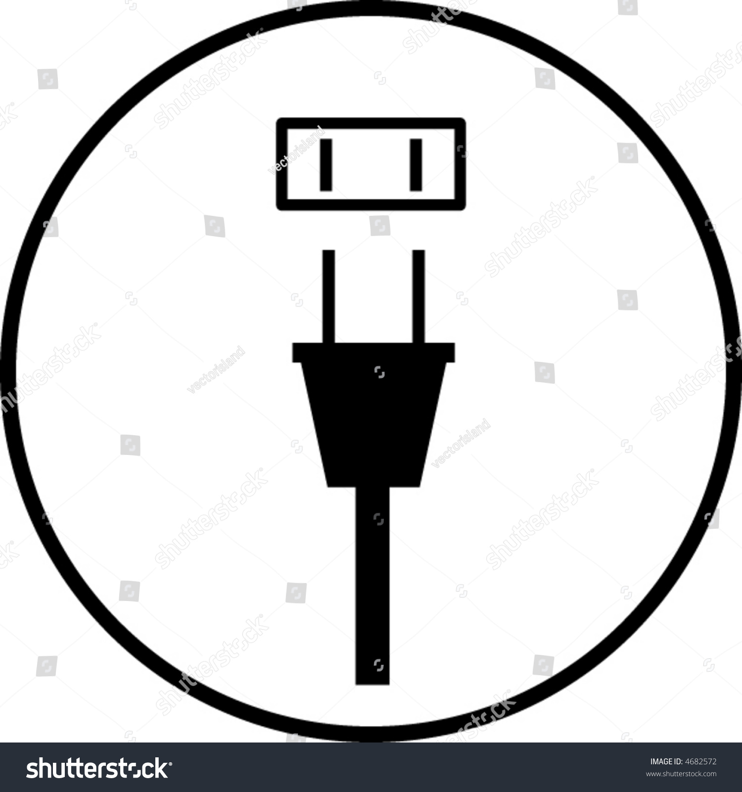 Power Plug Outlet Symbol Stock Vector 4682572 - Shutterstock