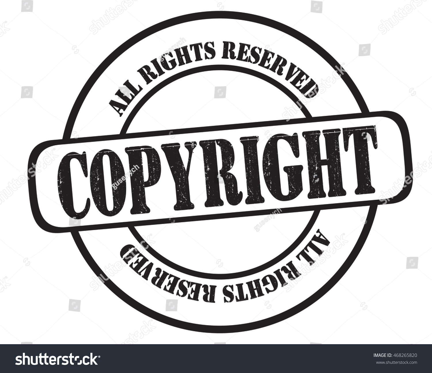 Stamp Text Copyright All Rights Reserved Stock Illustration