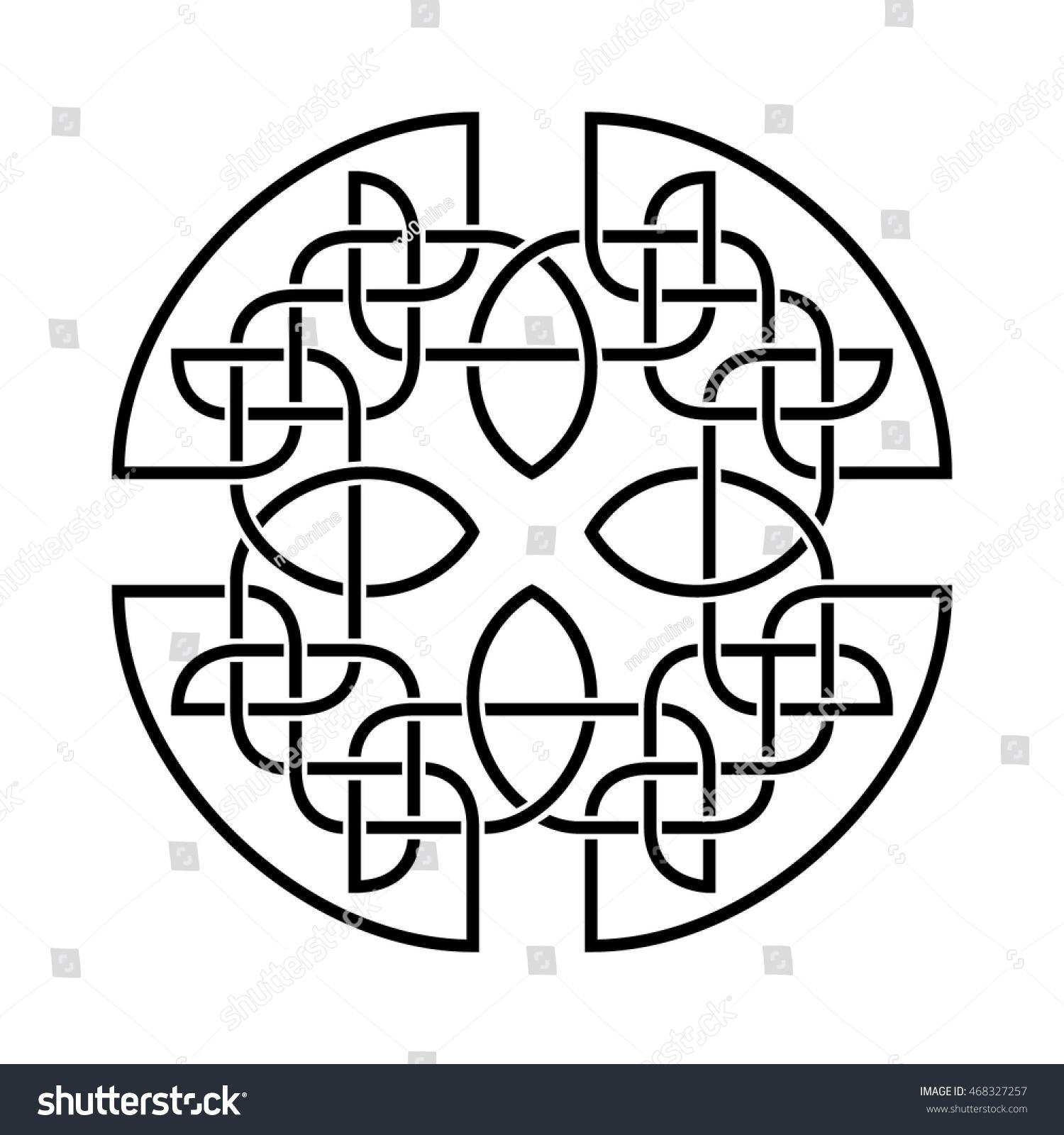 Vector Celtic Knot Pattern Vector de stock (libre de regalías ...