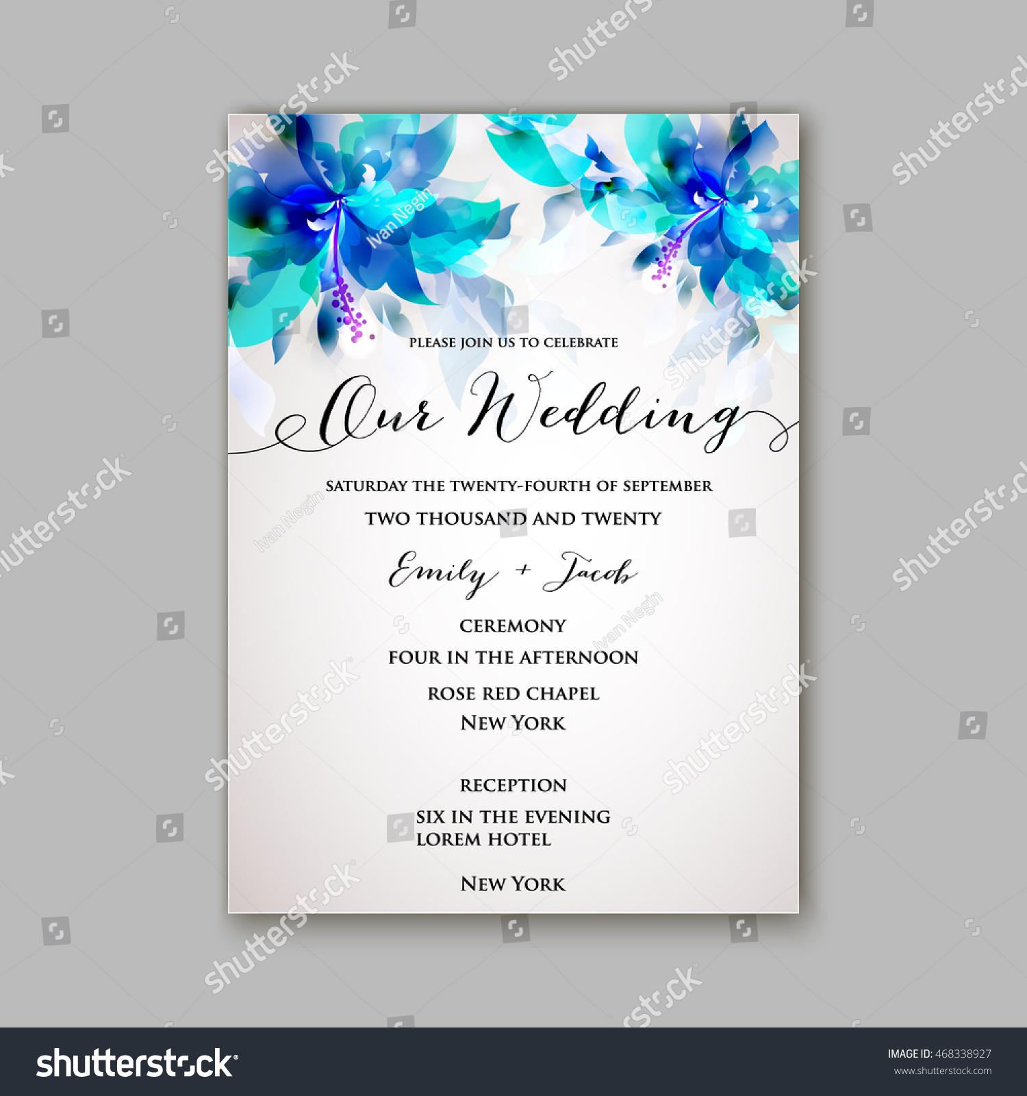 Wedding invitation or card with floral chrysanthemum   EZ Canvas