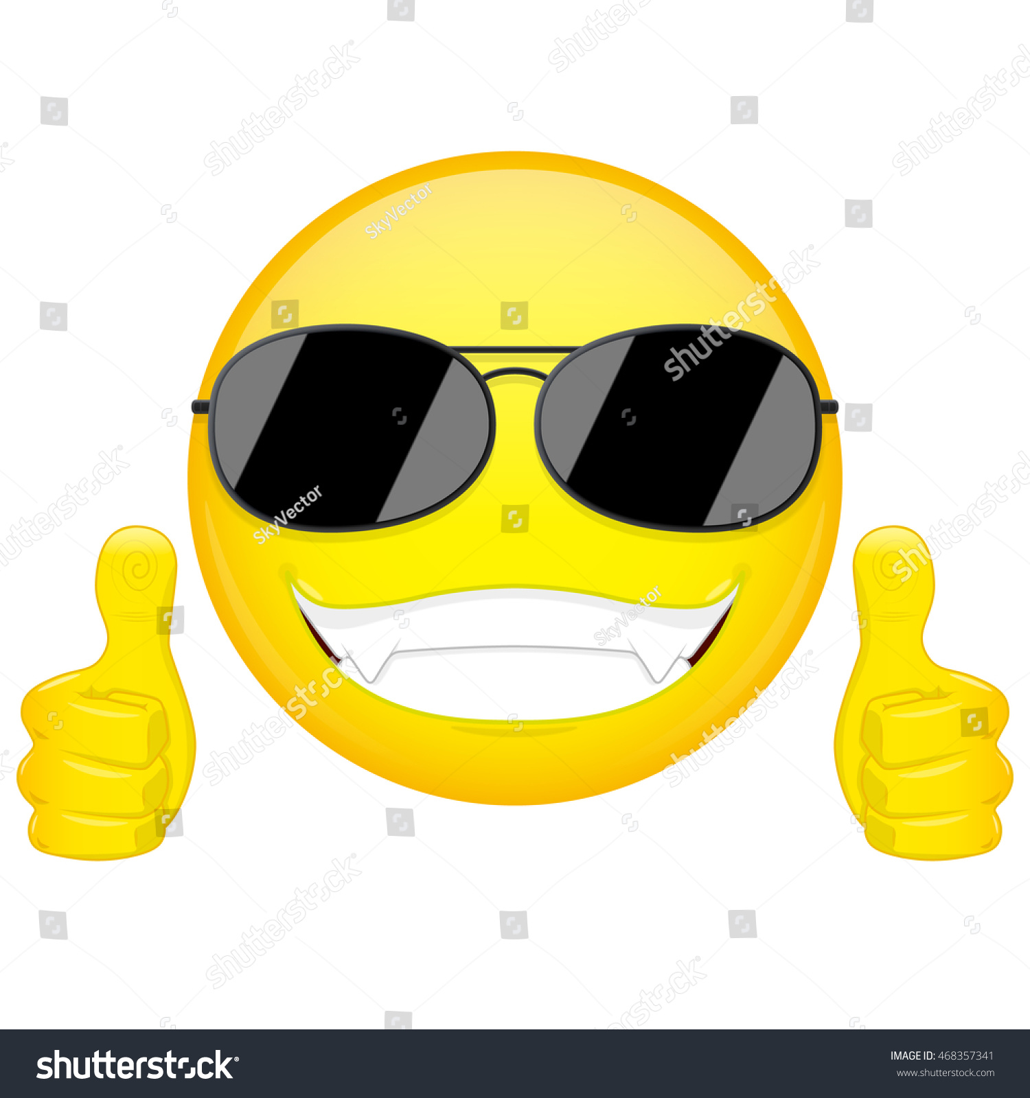 Good idea emoji thumbs emotion cool stock vector 468357341 good idea emoji thumbs up emotion cool guy with sunglasses emoticon vector illustration biocorpaavc Images