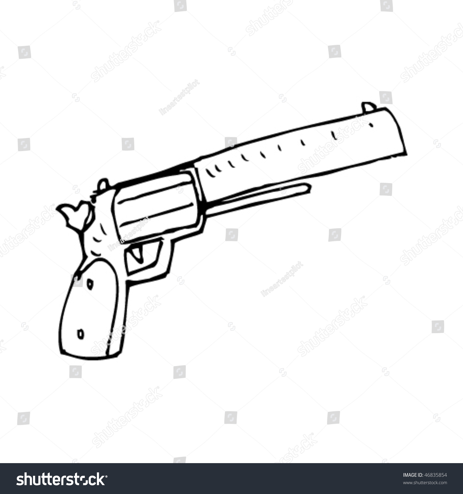 One Line Art Gun : Rough line drawing gun stock vector shutterstock