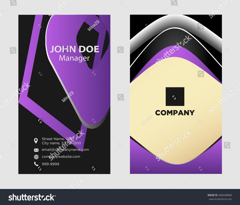 Modern Simple Luxury Standard Business Card Stock Vector 468358868 ...