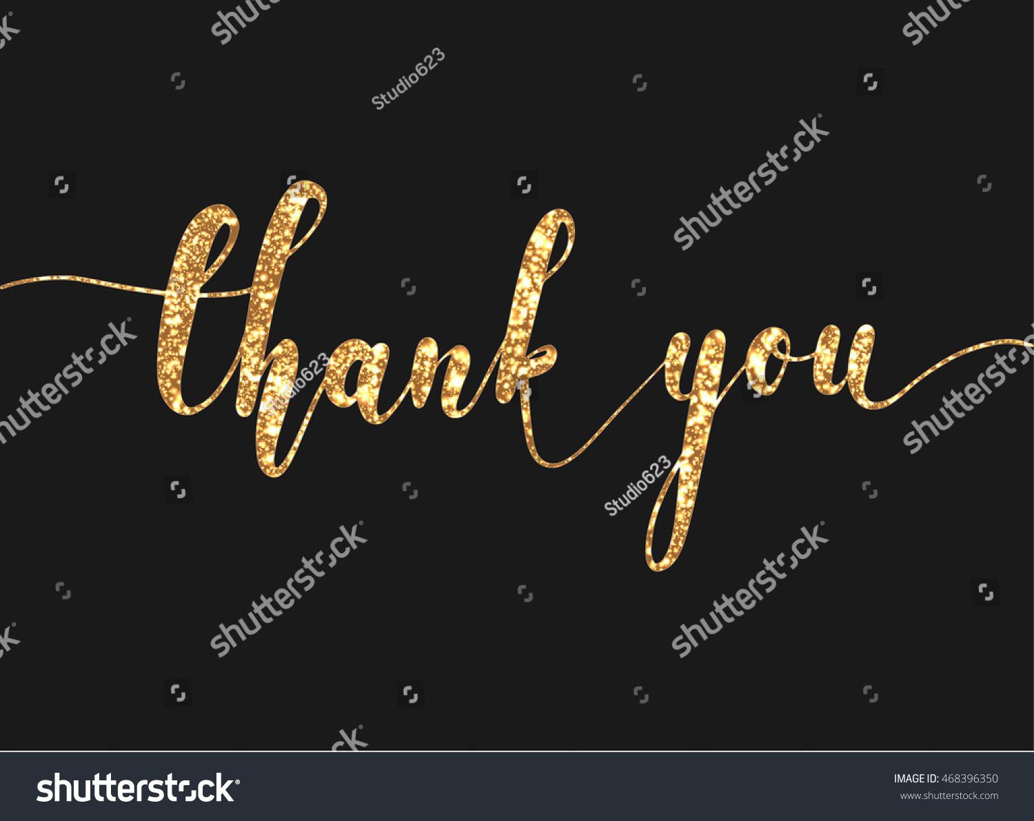 Thank you lettering modern hand writing stock vector Thank you in calligraphy writing