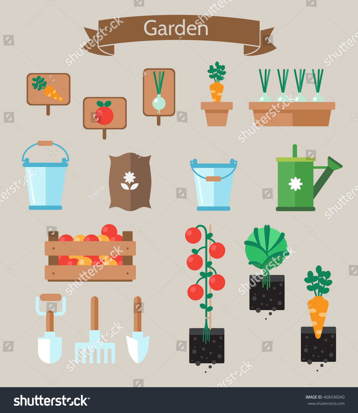 vegetable garden planner flat design beds with cabbage carrots garden tools garden