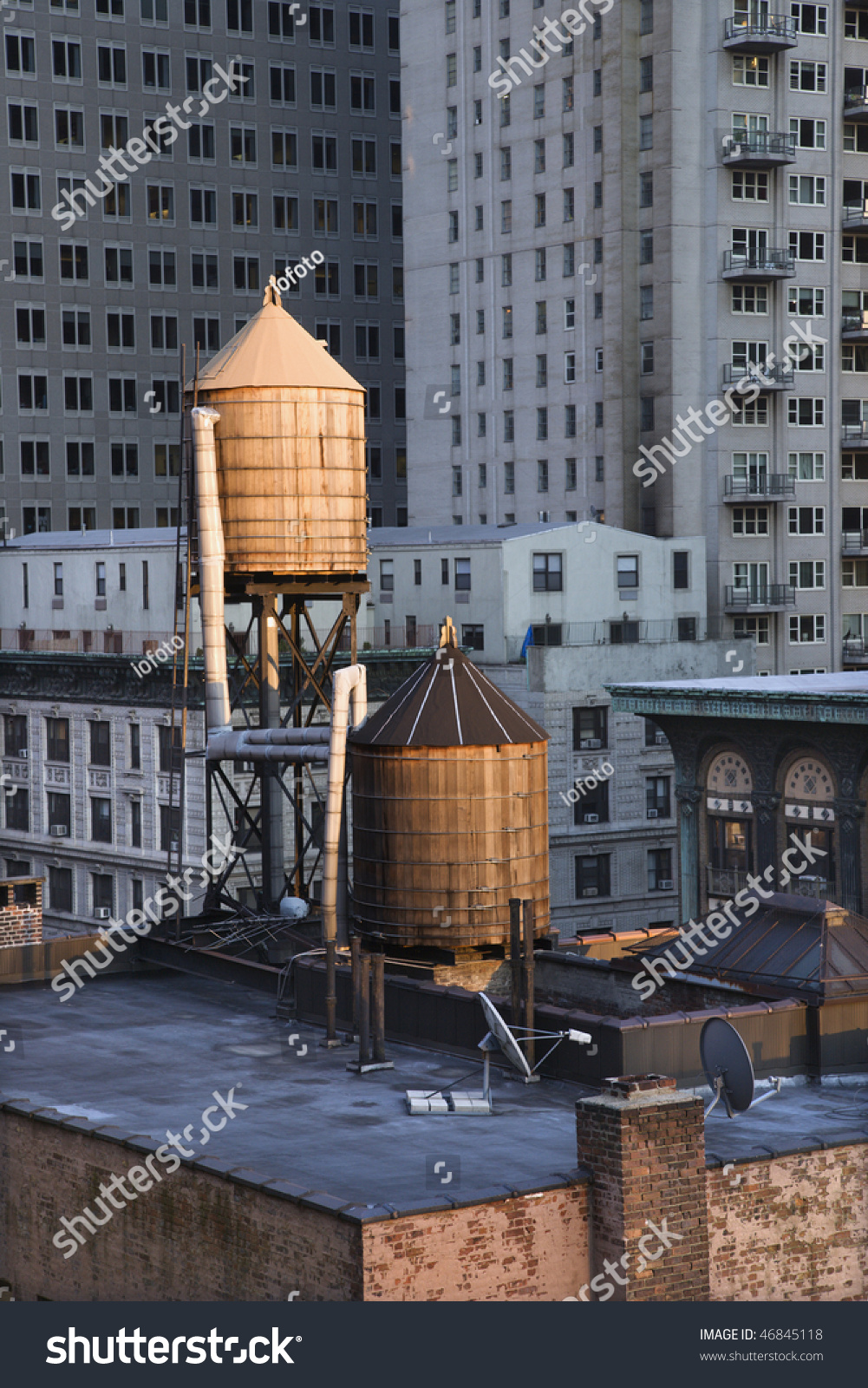 Cropped View Buildings New York City Stock Photo 46845118