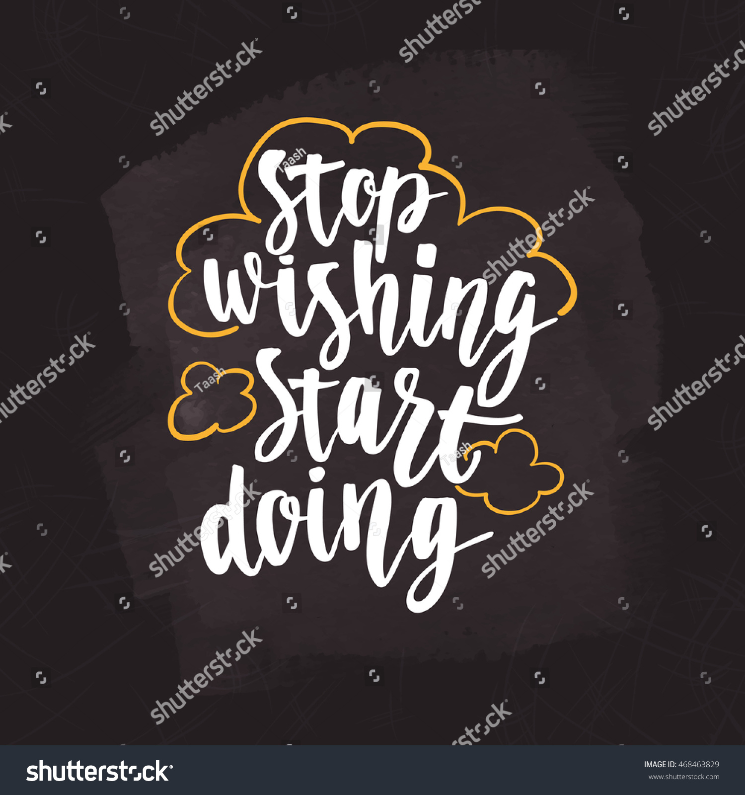 Motivational Quote Hand Lettering Inspirational Poster Stock Vector