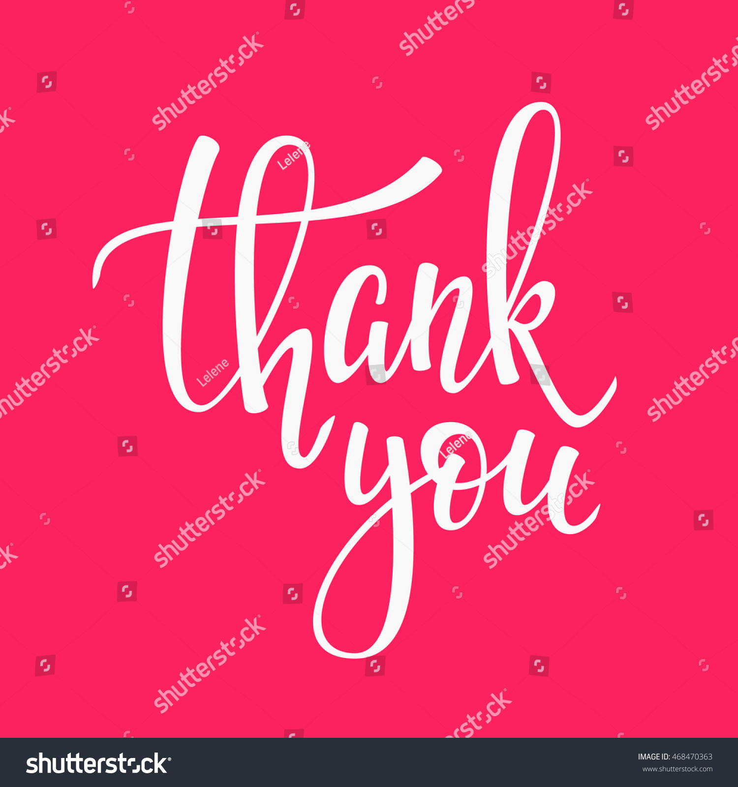 Thank You Friendship Family Positive Quote Stock Vector Royalty