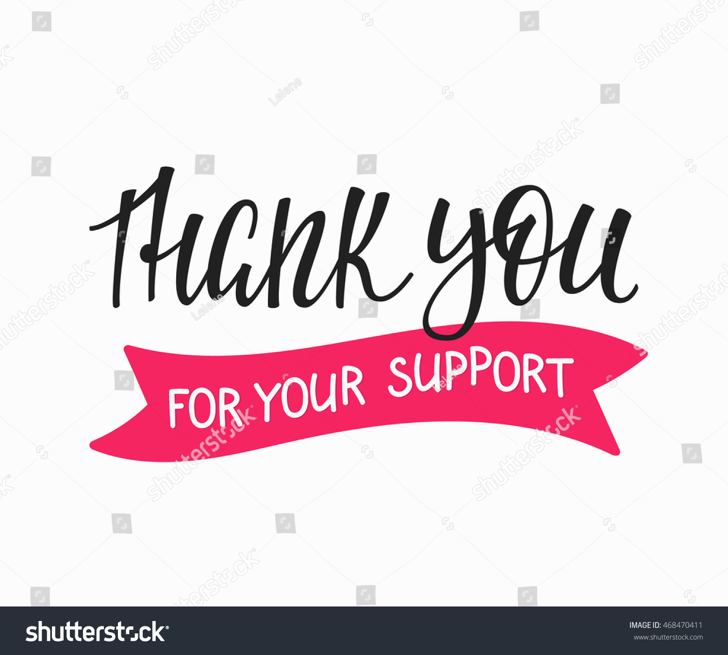 Thank You Friendship Family Positive Quote Stockvector Rechtenvrij