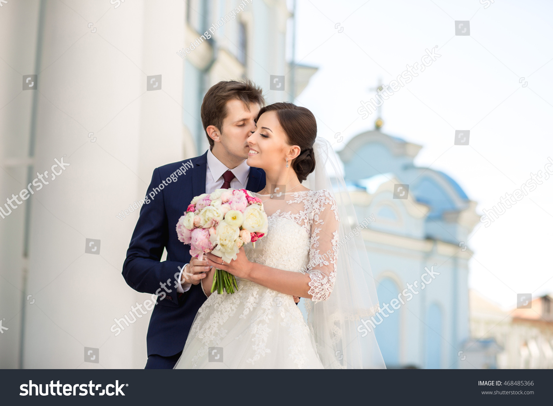 Wedding Wedding Day Beautiful Bride Elegant Stock Photo (Royalty ...