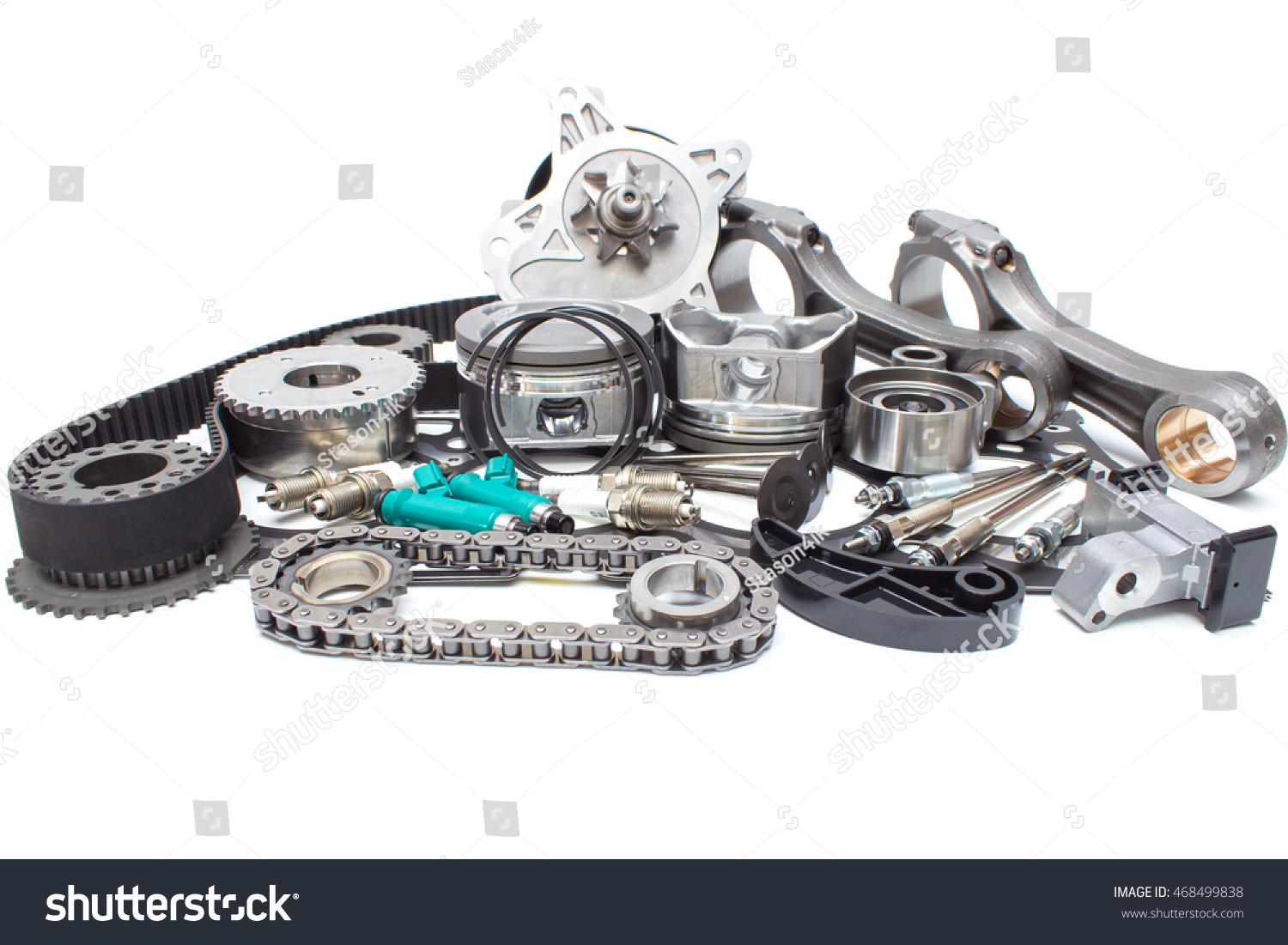Group Automobile Engine Parts Isolated On Stock Photo 468499838 ...