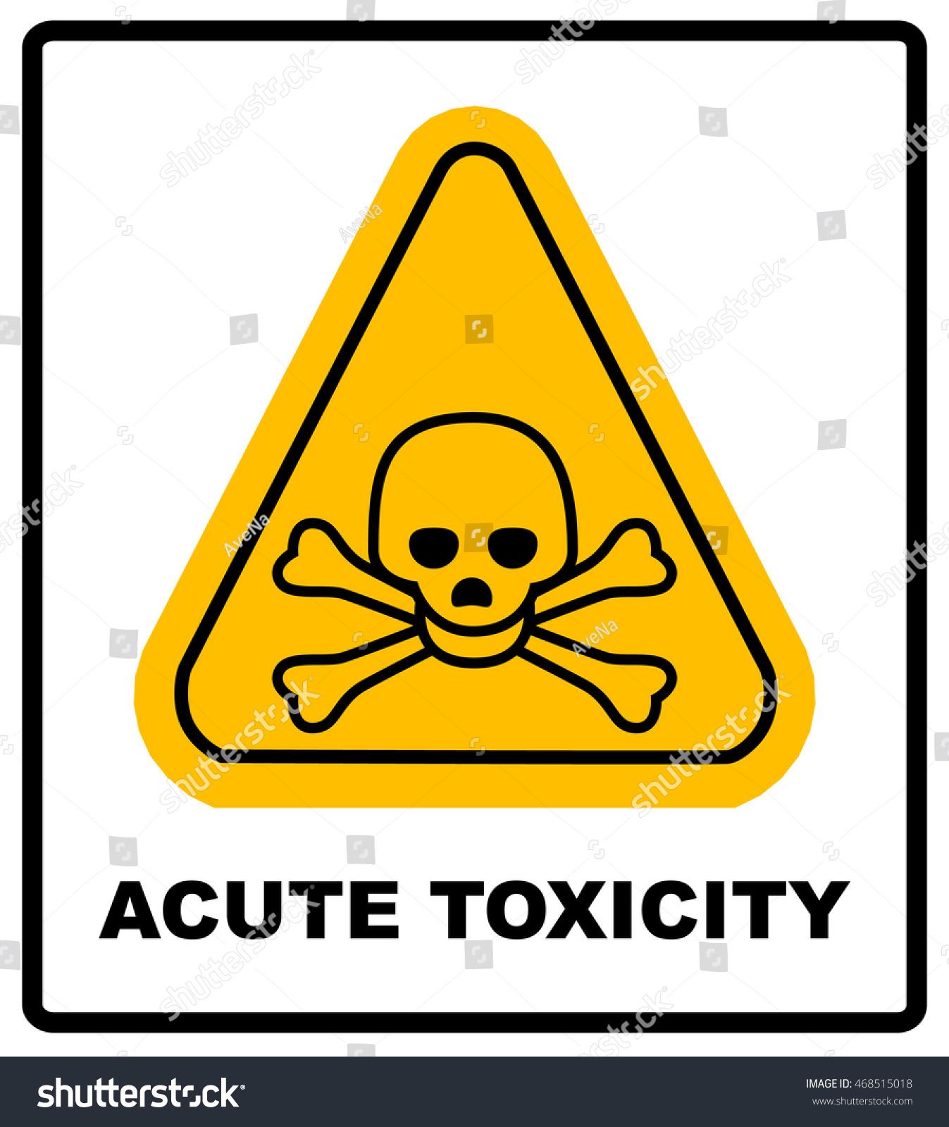 Hazard Pictogram Acute Toxicity Hazard Symbol Vector Banner For