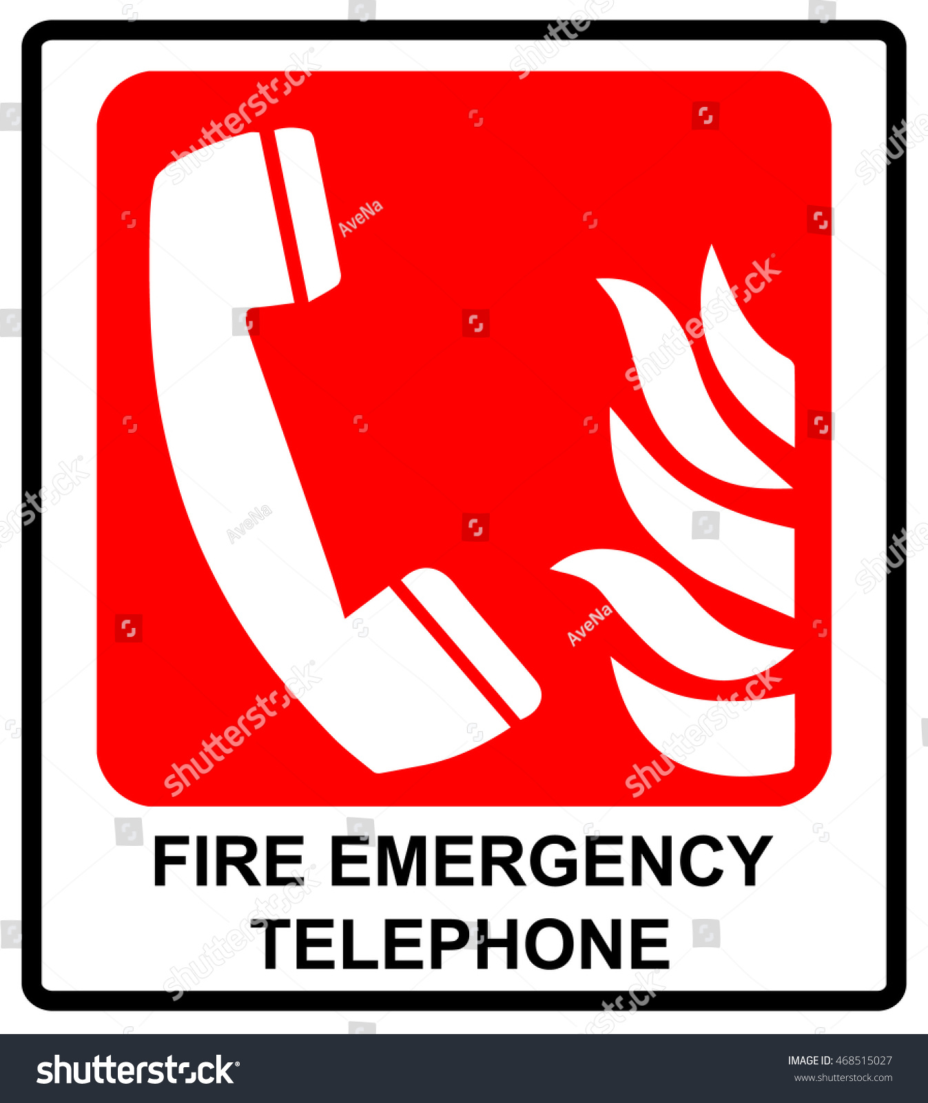 Vector fire emergency telephone icons signs stock vector 468515027 vector fire emergency telephone icons signs of evacuations emergency call informational sticker for buycottarizona Image collections