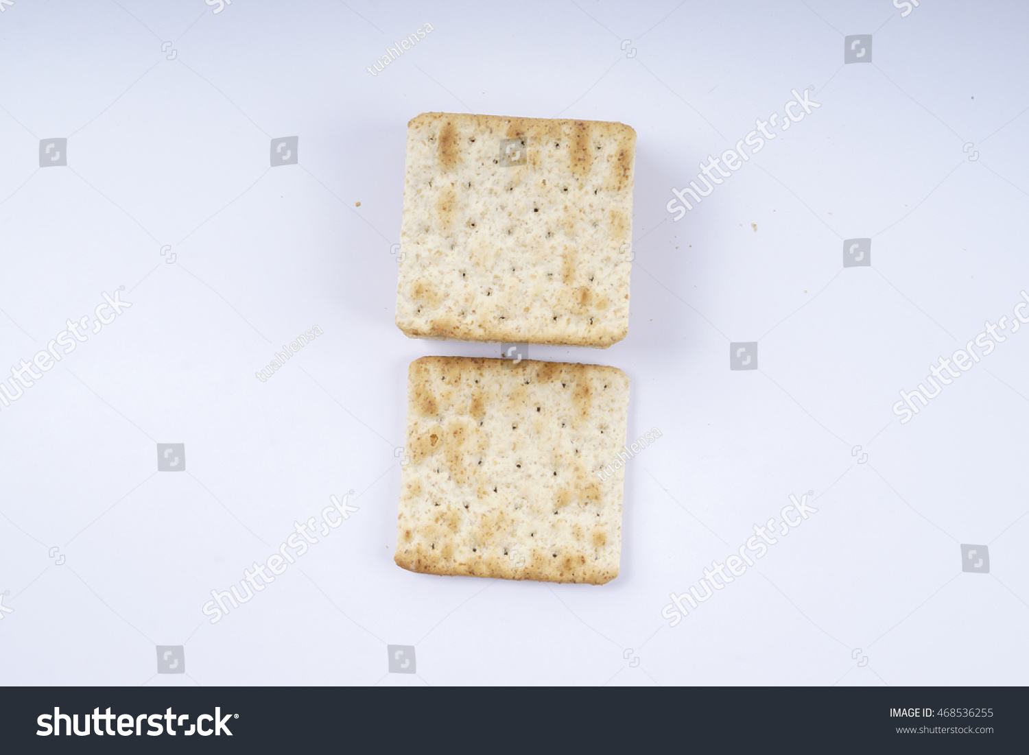 Oat biscuts , isolated on white background. DOF and copy space. #468536255
