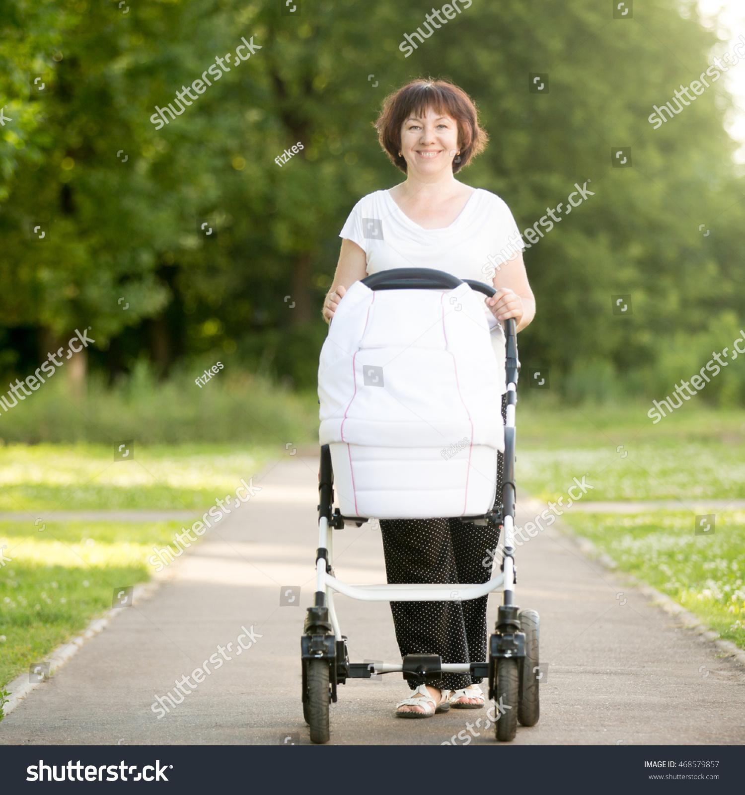 8ef179c5c89e Portrait Happy Smiling Grandmother Walking Park Stock Photo (Edit ...