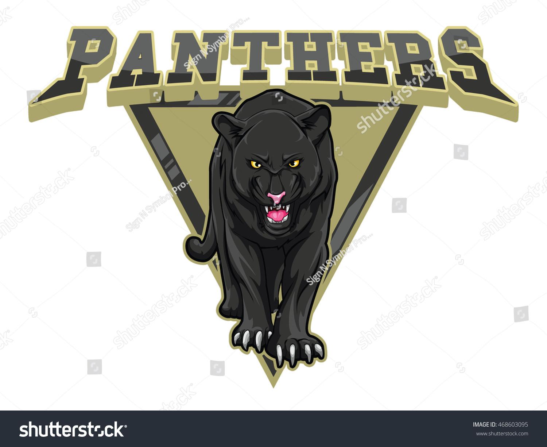 panthers illustration design colorful