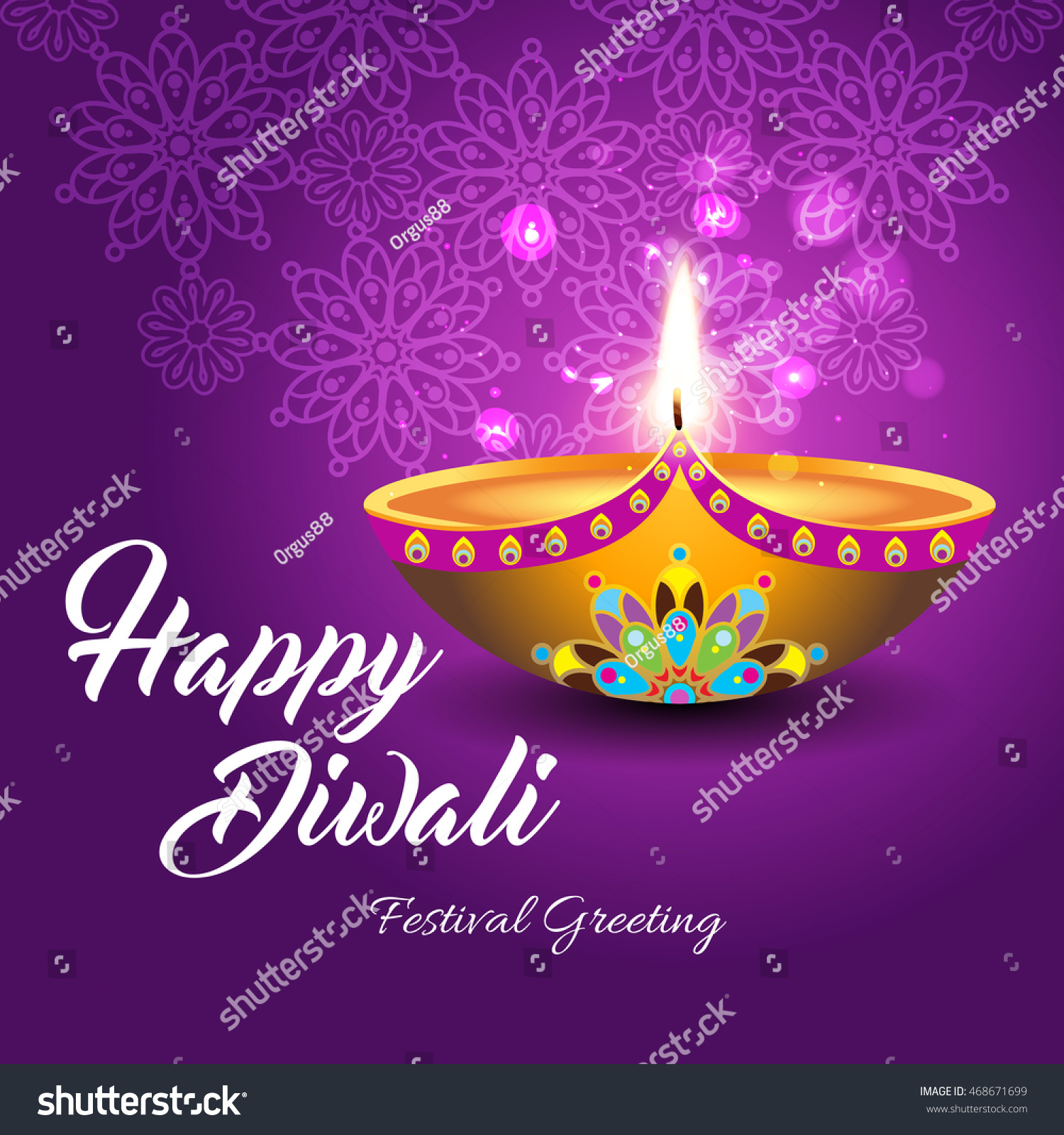 Beautiful greeting card for Hindu community festival Diwali Happy Diwali festival background illustration Diwali graphic design for Diwali festival celebration in India