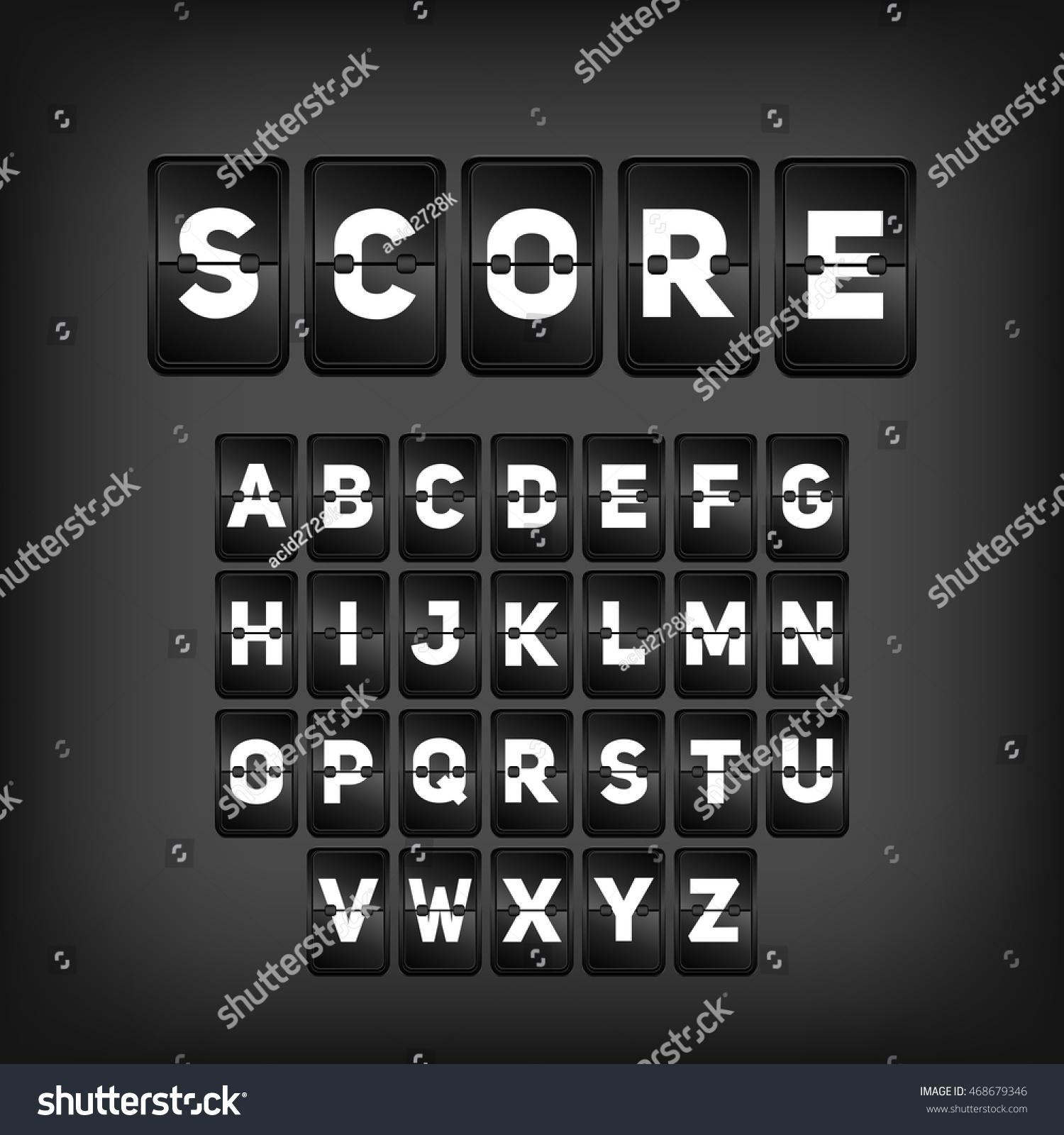 Score Abc Football Soccer Scoreboard Sport Stock Vector Royalty