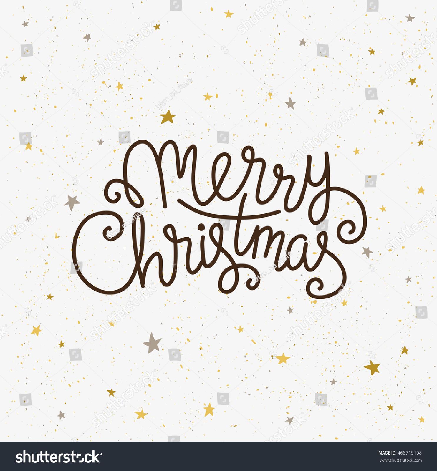 merry christmas greeting card season vector stock vector  season vector holiday poster template handwritten text on the light