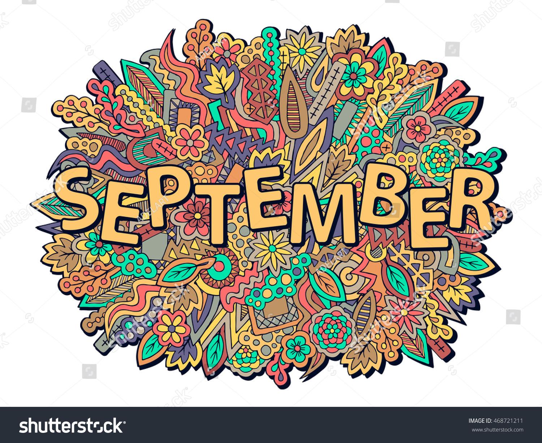 autumn background september wallpaper fall theme のベクター画像素材
