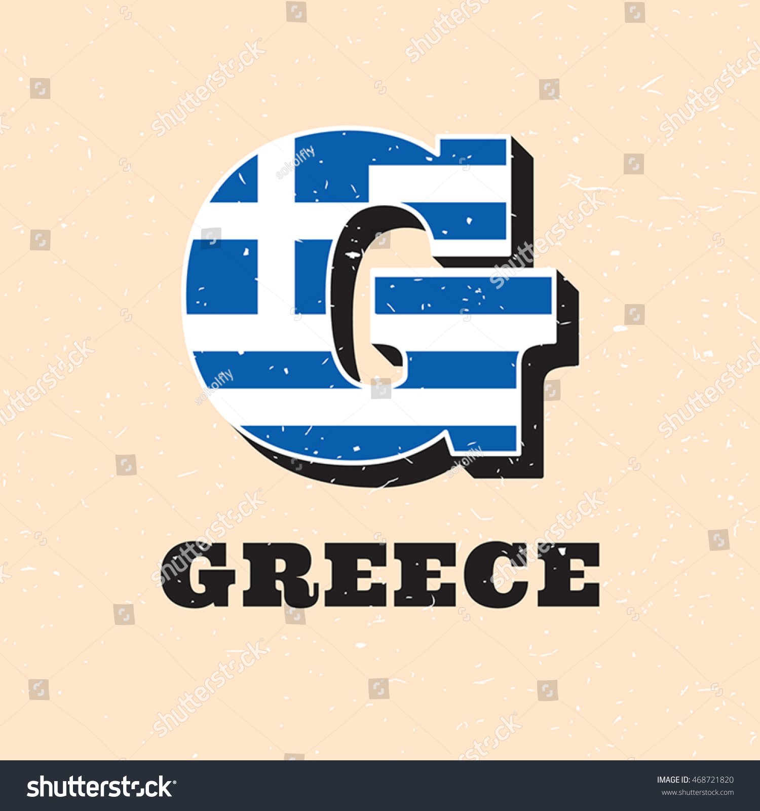 Vector letter g logo design greek stock vector 468721820 vector letter g logo design for greek flag greece national icon template worldwide country biocorpaavc Image collections