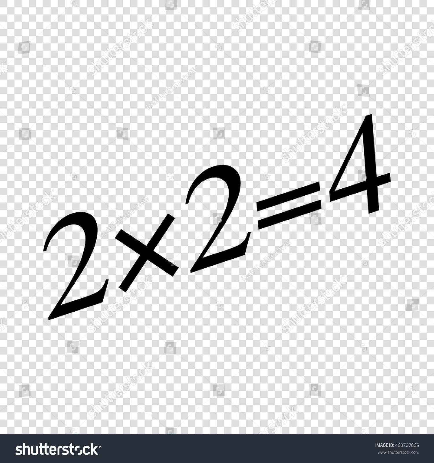 simple mathematical equation black on transparent stock vector
