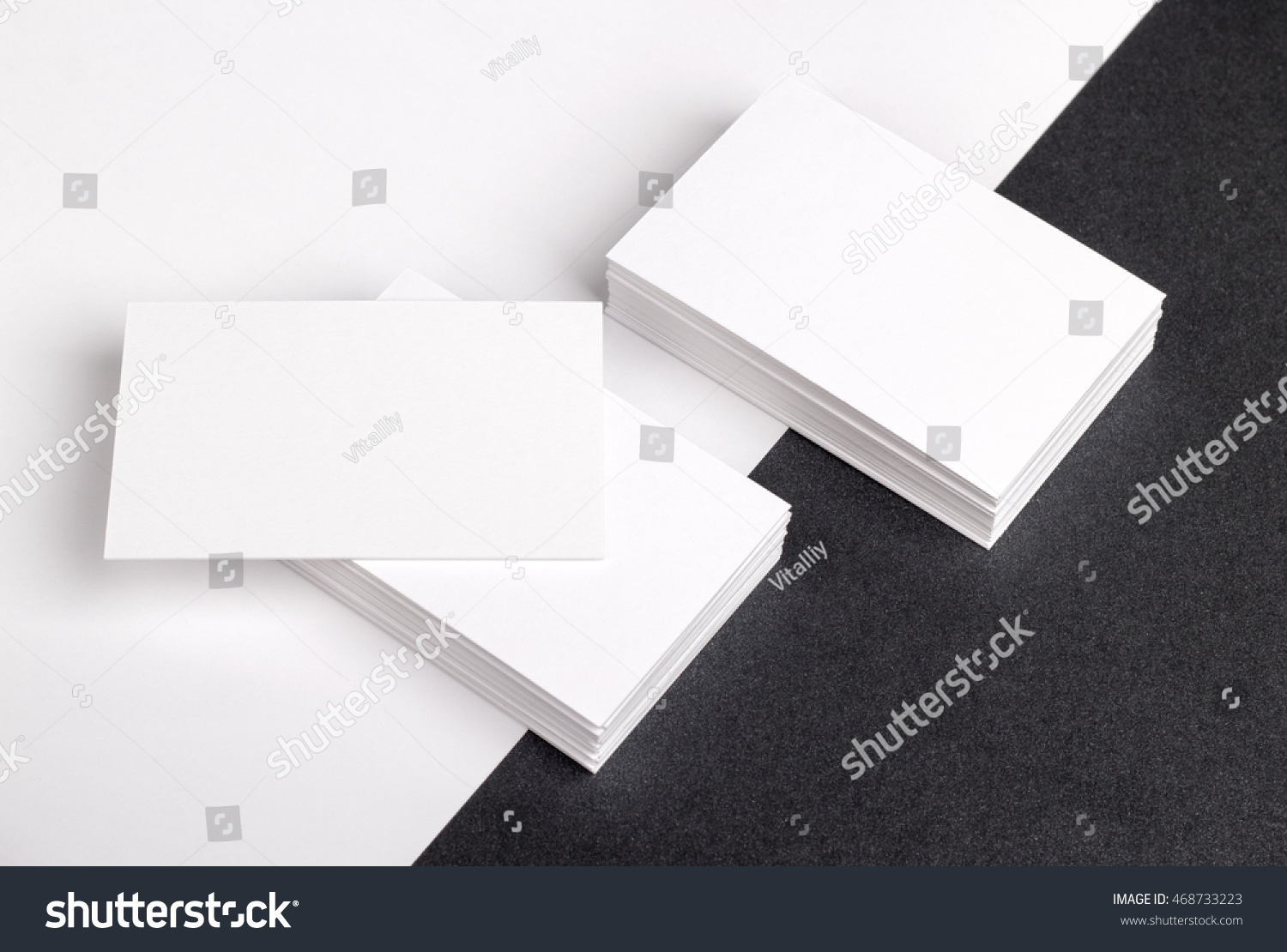 Photo of business cards. Template for branding identity. For graphic designers presentations and portfolios. Business Card, business, business, card, mock-up, mock up, mockup. #468733223