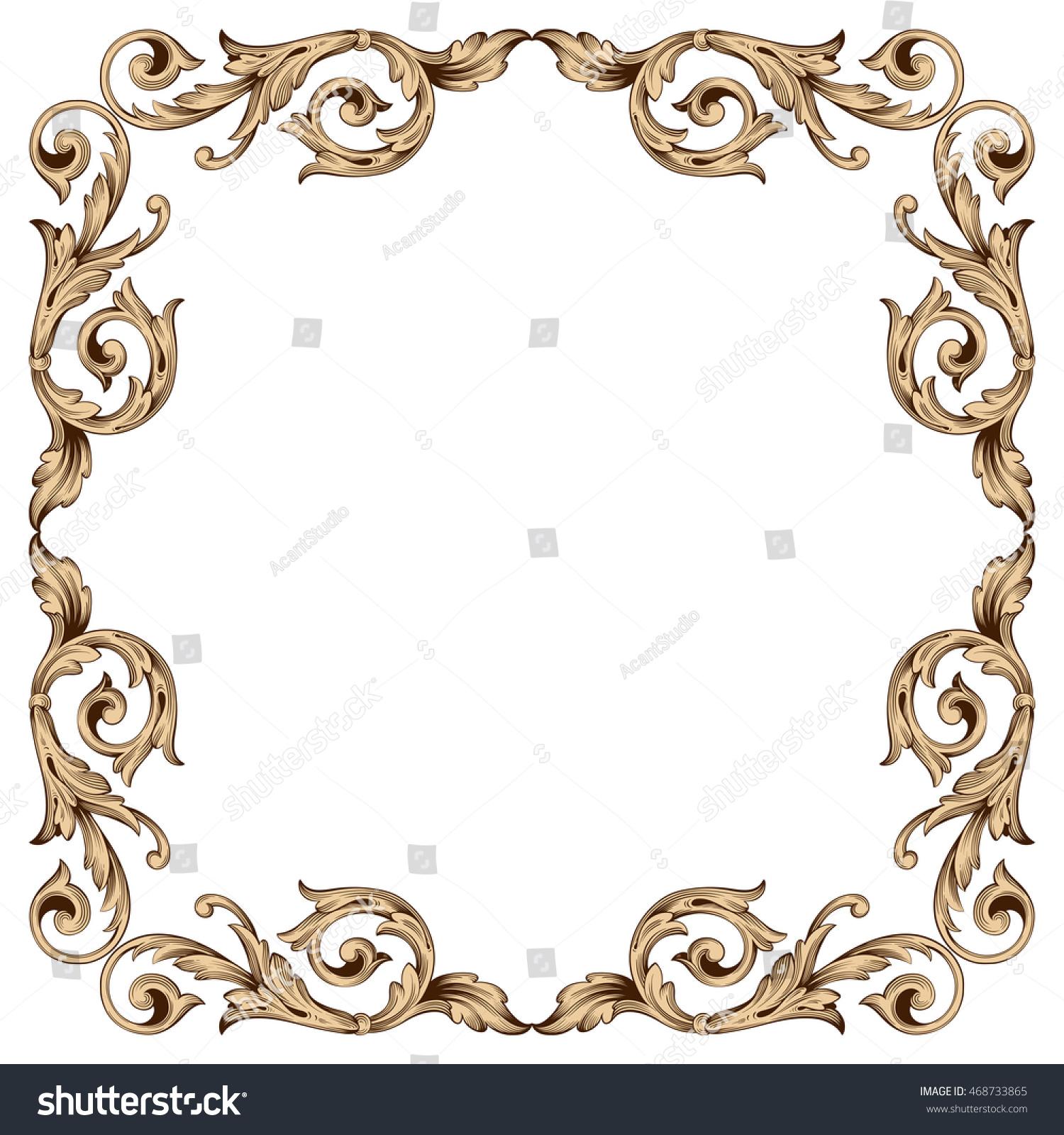 rococo motif vintage floral - photo #45