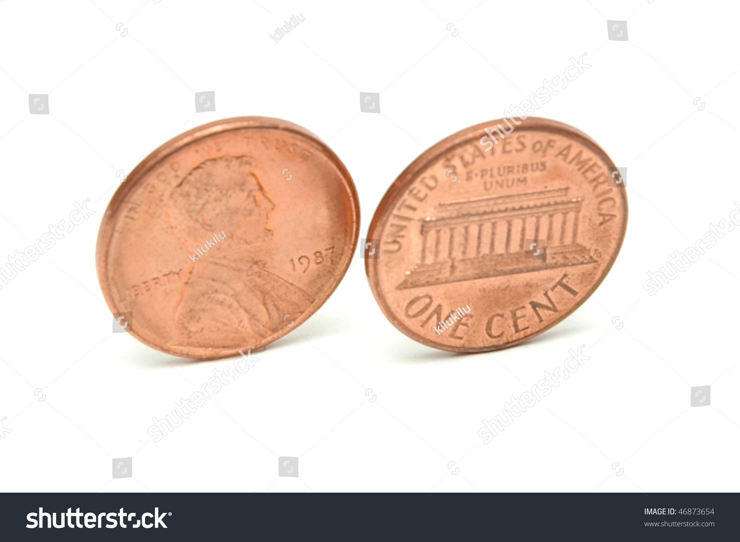 One Cent Two Sides Stock Photo 46873654 - Shutterstock