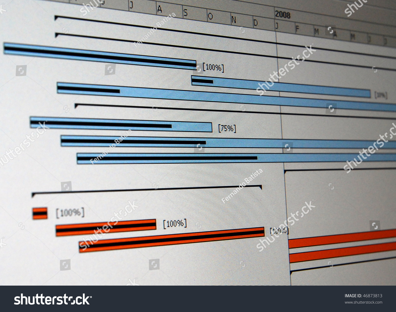 Gantt chart type bar chart that stock photo 46873813 shutterstock a gantt chart is a type of bar chart that illustrates a project schedule nvjuhfo Images