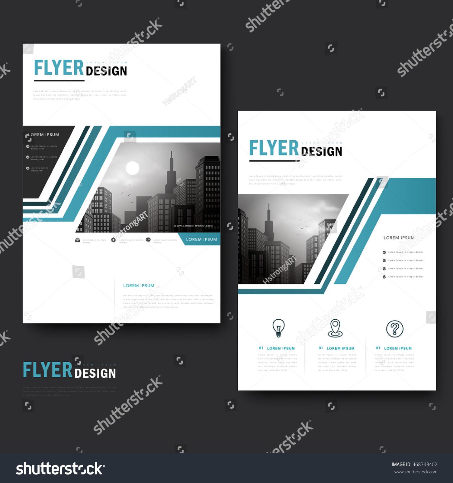 Trendy Brochure Template Design City Landscape Stock Vector (Royalty ...