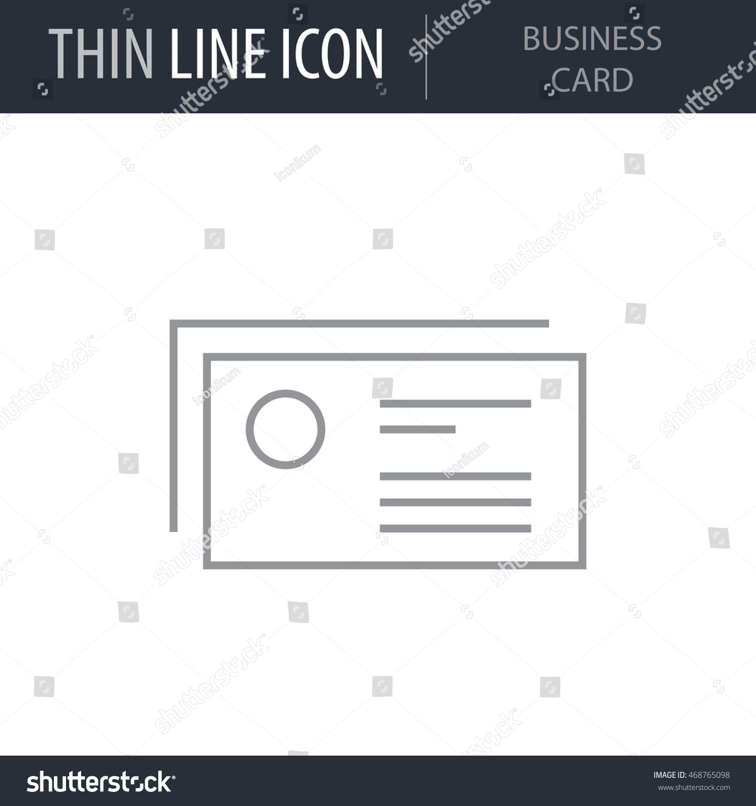 Business Card Outline Icon Thin Line Stock Vector 468765098 ...