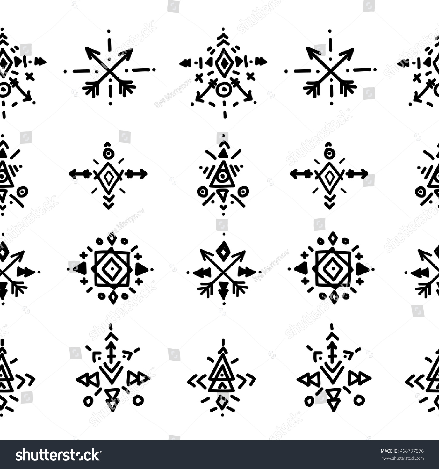 Vector tribal elements hipster logo aztec stock vector 468797576 vector tribal elements with hipster logo aztec patterns and ethnic symbols biocorpaavc Gallery