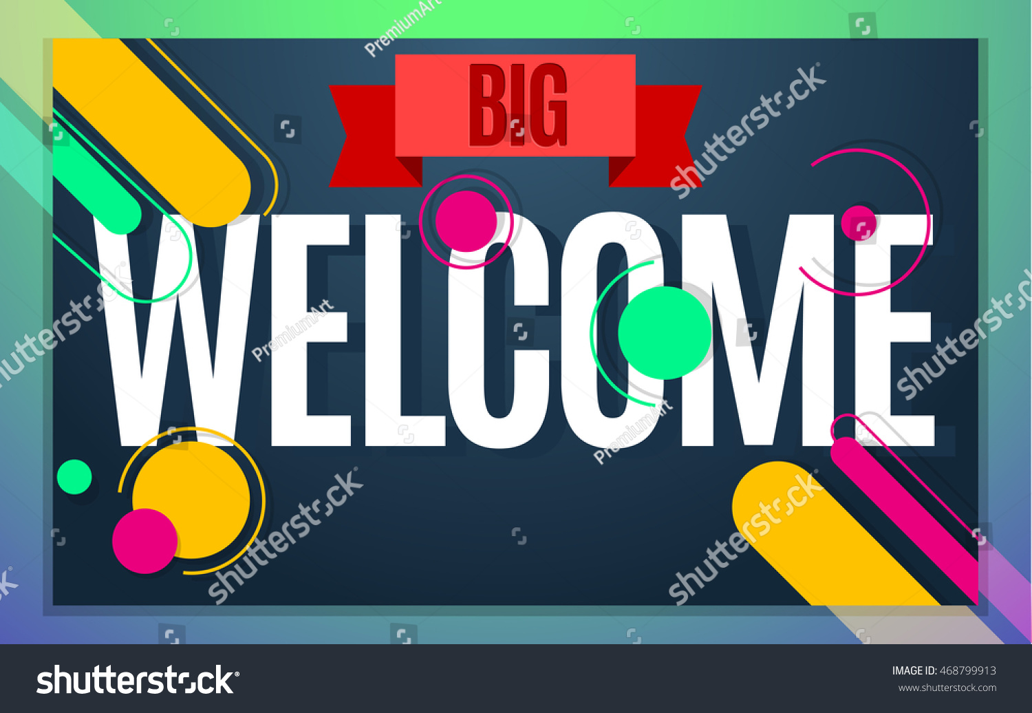 Modern Style Welcome Banner Color Design Stock Vector Royalty Free