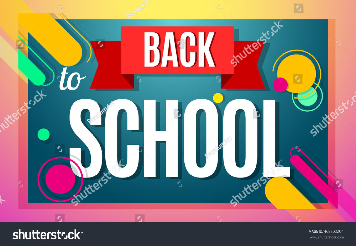Welcome back school color banner design stock vector 468800204 welcome back to school color banner design vector illustration template in modern style pronofoot35fo Image collections