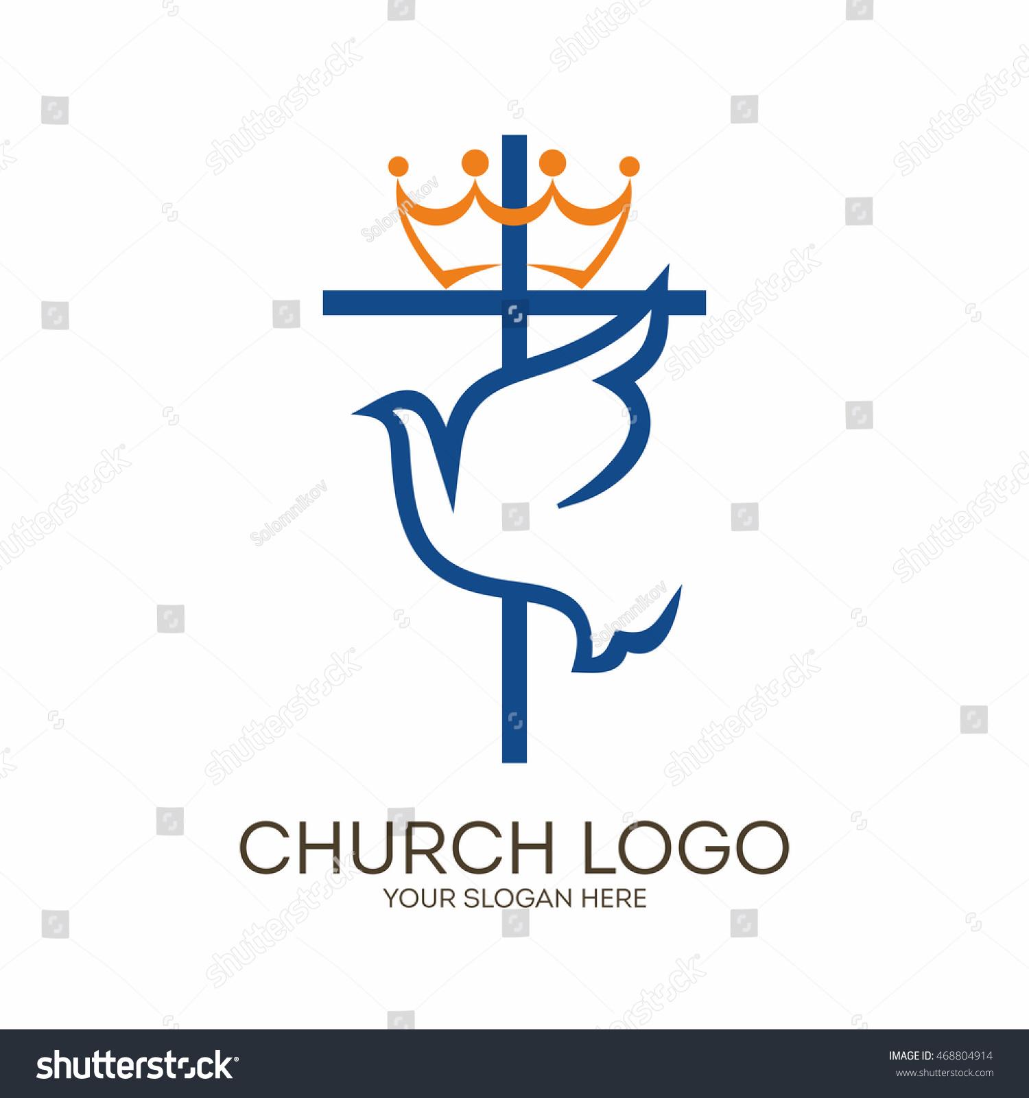 Church logo christian symbols cross dove stock vector 468804914 church logo christian symbols cross and dove holy spirit thecheapjerseys Gallery