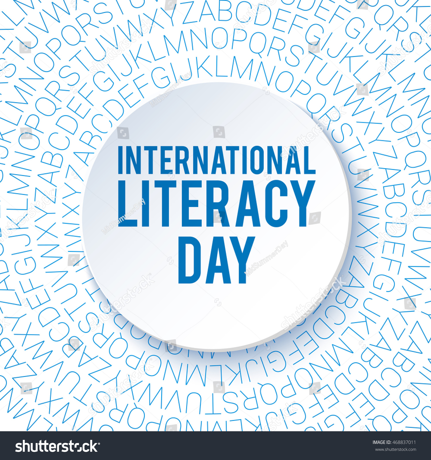 International Literacy Day Background Poster Flyer Stock