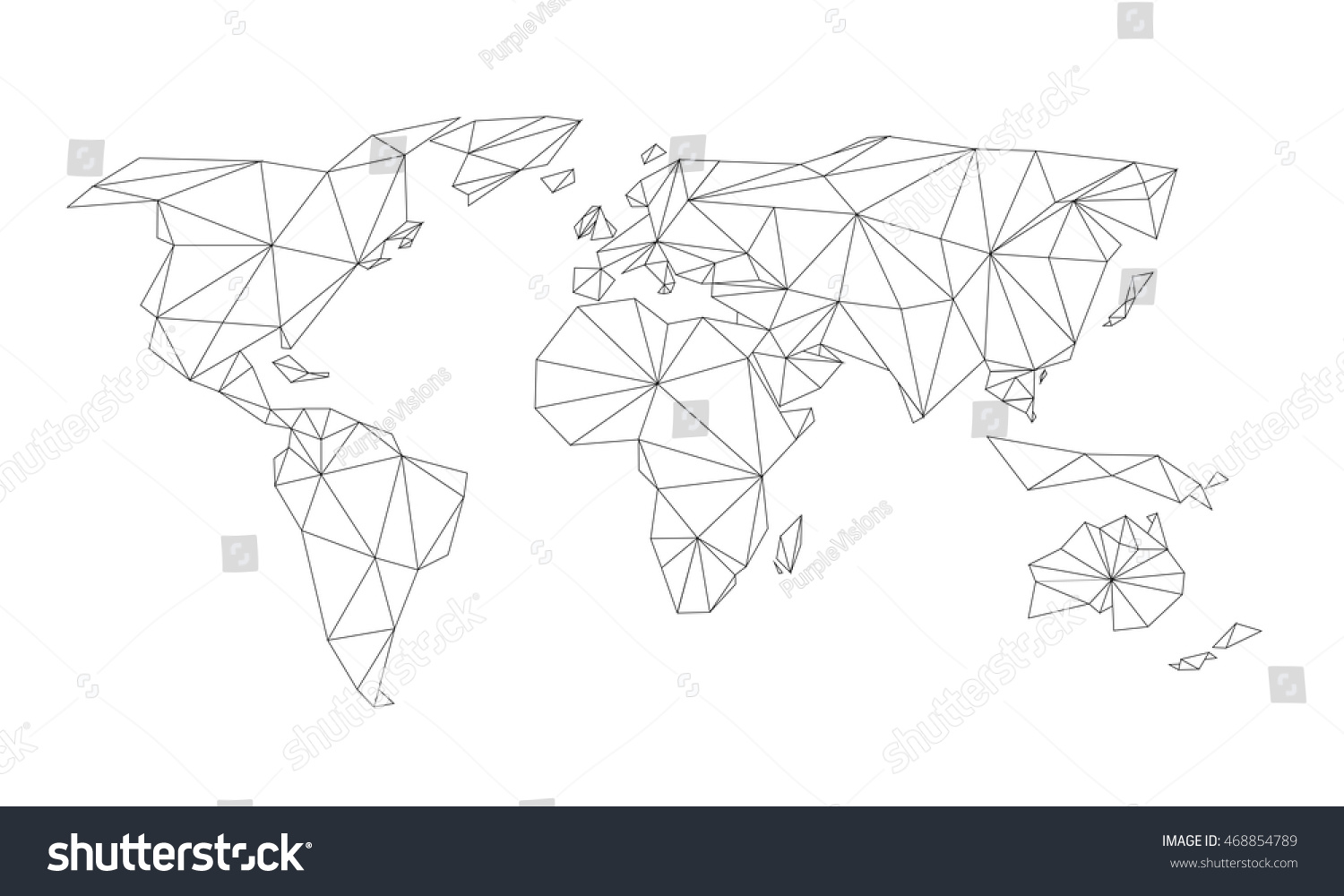 Triangle world map vector net black vectores en stock 468854789 triangle world map vector net black vectores en stock 468854789 shutterstock gumiabroncs Images
