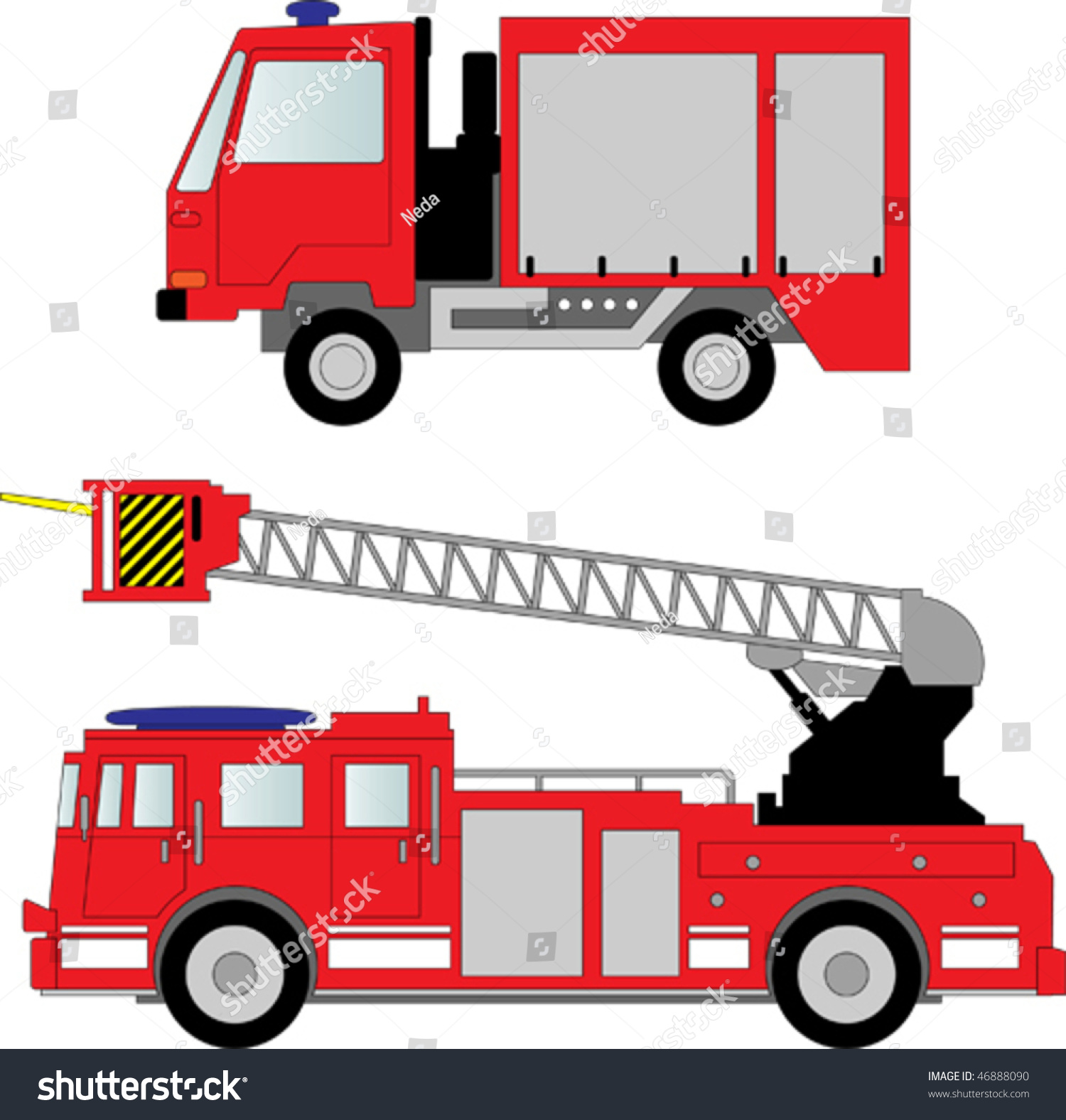 fire truck vector illustration stock photo photo vector rh shutterstock com fire truck vector clipart fire engine vector