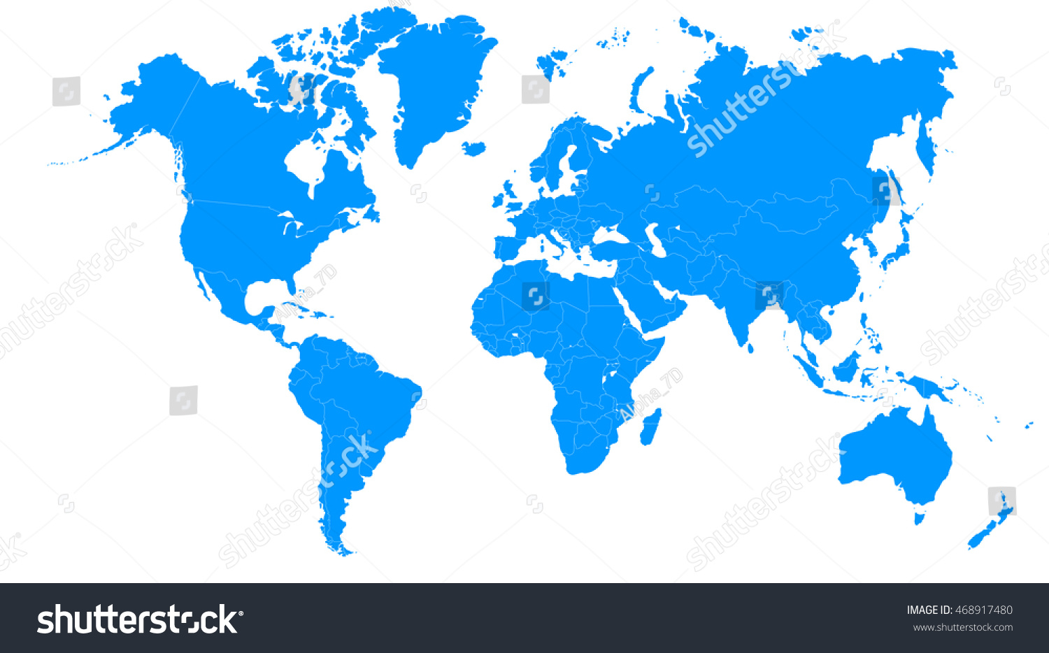 World map europe asia north america stock illustration 468917480 world map europe asia north america south america africa australia gumiabroncs Image collections