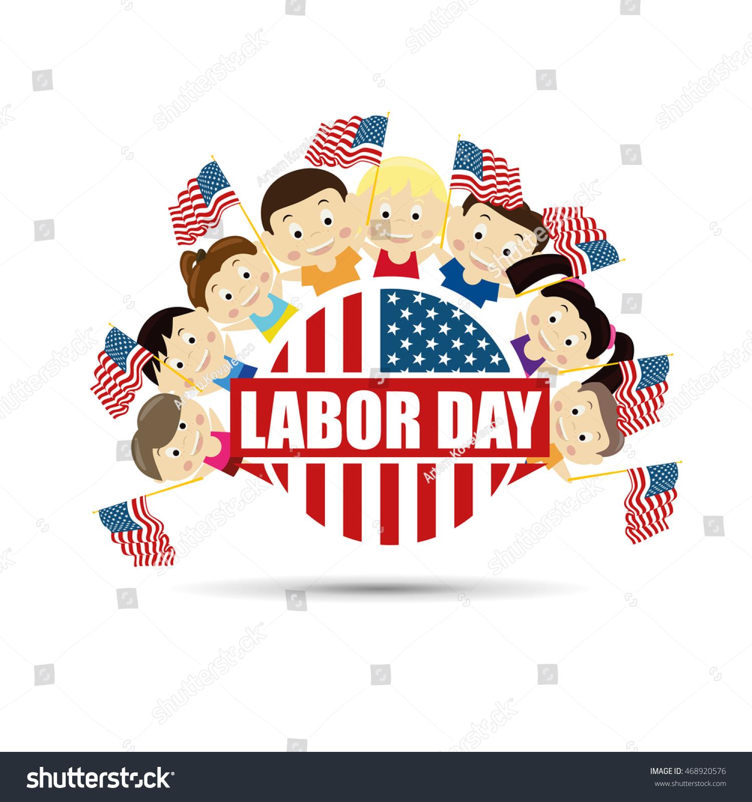 Vector Illustration Labor Day National Holiday เวกเตอร สต อก ปลอด