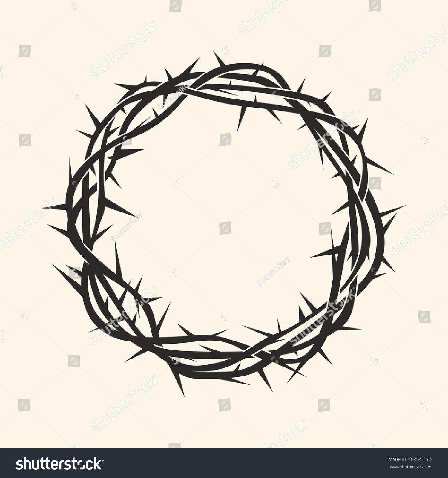 Church Logo Christian Symbols Crown Thorns Stock Photo Photo