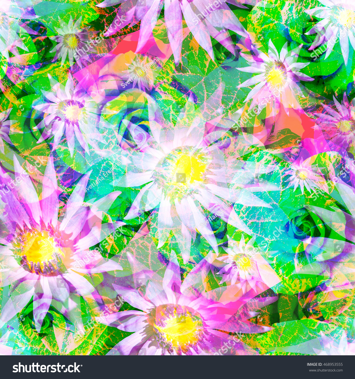 Floral Seamless Pattern Flowers Abstract Background Stock