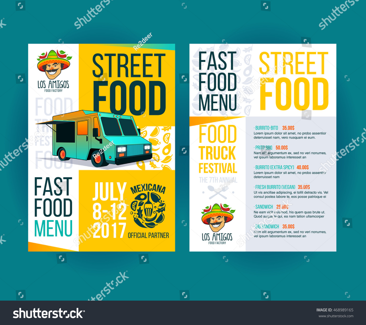 Creative Party Invitation On Food Truck Vector 468989165 – Creative Party Invitation
