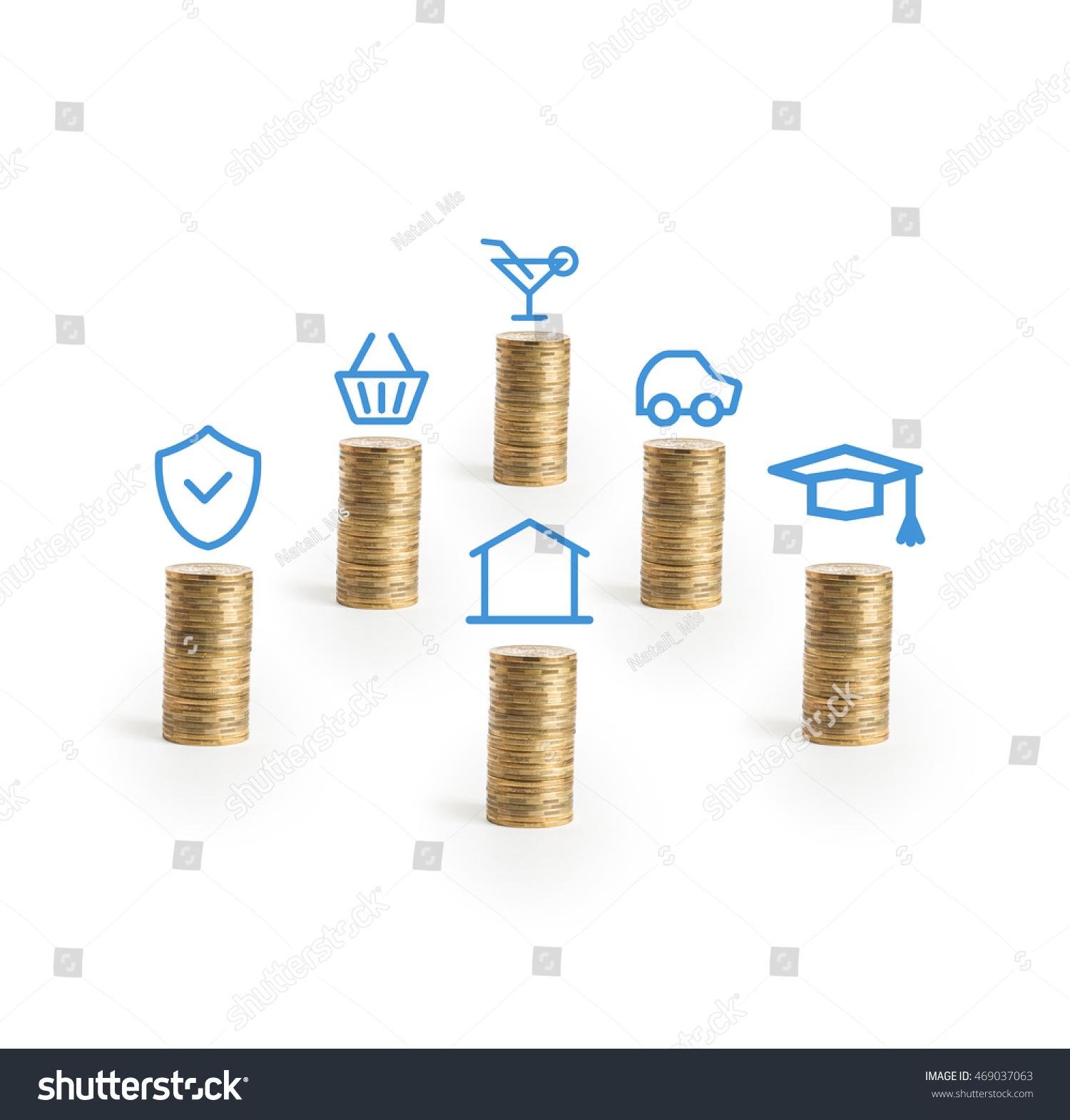 personal money saving planning info concept stock photo 469037063