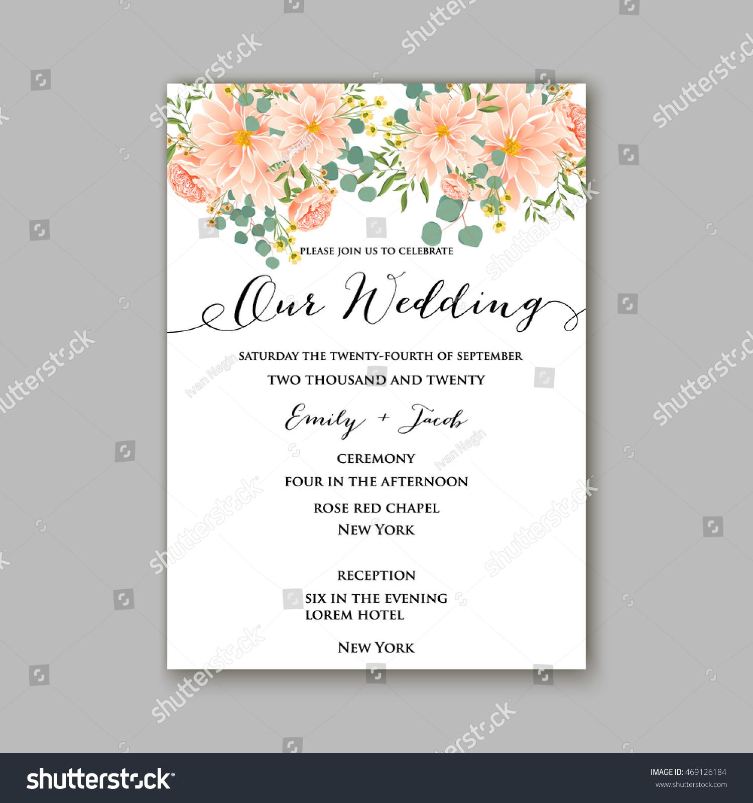 Beautiful wedding floral vector invitation sample stock vector hd beautiful wedding floral vector invitation sample card design frame template rose daisy stopboris Images