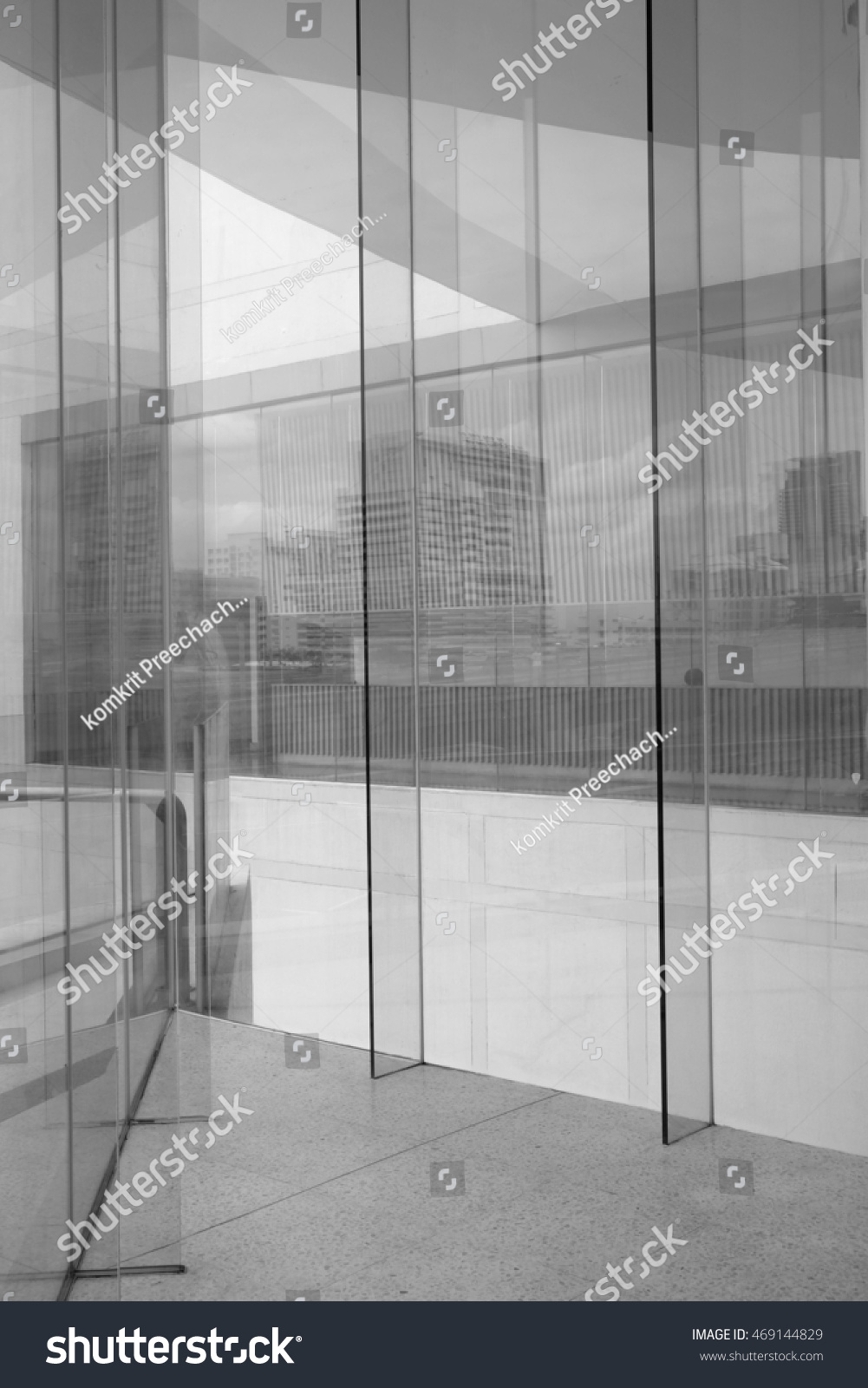 Glass Building Reflection Building Stock Photo 469144829 ...