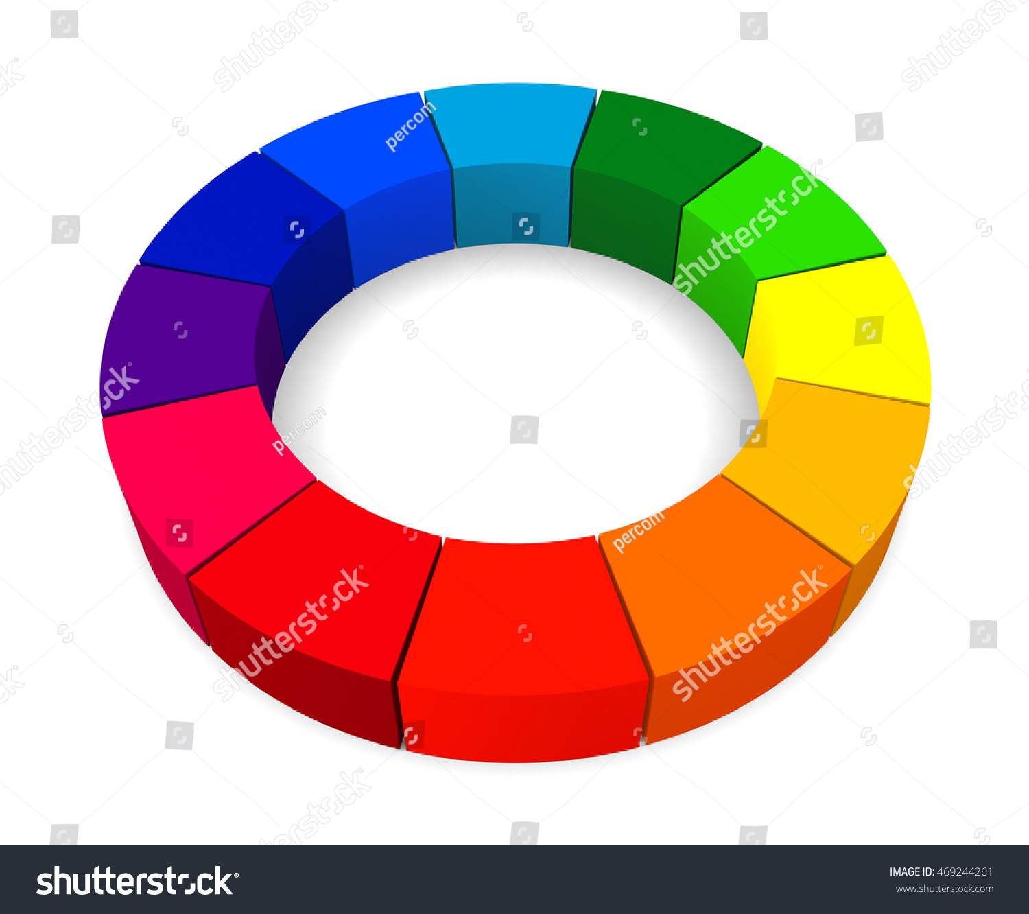 Colors Color Wheel Isolated On Stock Illustration