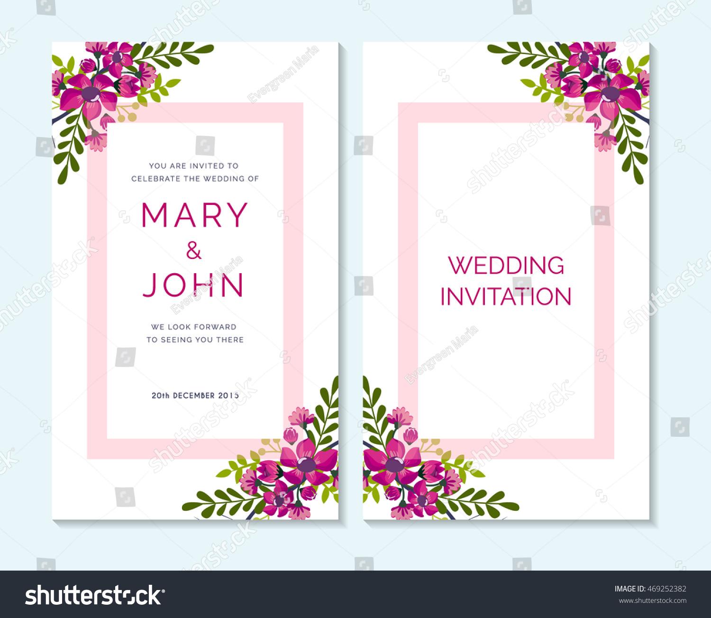 Wedding Invitation Thank You Card Save Stock Vector HD (Royalty Free ...